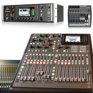 Consoles and mixers